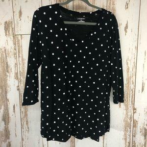 Lane Bryant, Polka Dot Shirt, Size 18/20.  I25